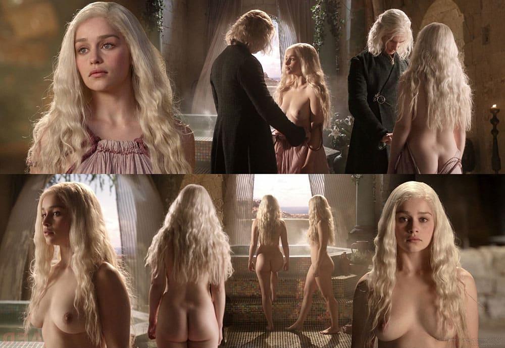 emilia clark nua pelada em game of thrones