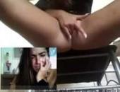 Mulher gozando de verdade no chat online