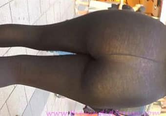 novinha de leg transparente, calça legging