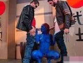 X-Men porno paródia XXX, Wolveirne fudendo Mística