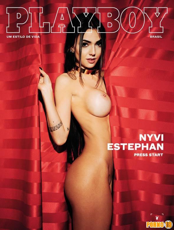 Nyvi Estephan Nua Playboy