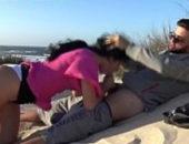 Boquete na praia à beira mar amador